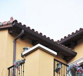 成品檐沟 金属落水系统 彩铝天沟 金属天沟