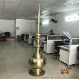 钛金不锈钢避雷针雕塑、定制高难度房顶避雷针圆锥造型