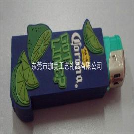 供应PVC塑胶打火机套 卡通打火机套 广告火机套