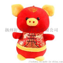唐装猪公仔 填充毛绒玩具猪玩偶 节日礼品促销