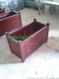 实木花箱 木制花槽 防腐木园林花箱 低价实木花箱
