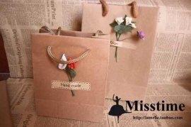 广州服饰包装纸袋、精装生日礼物包装纸袋制作