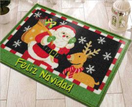 圣诞节卡通入门地垫Christmas Entrance Mats欧美圣诞老人