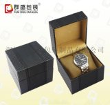 皮革黑手表盒 欧美简单大气女性手表盒