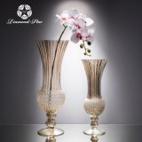 钻石星玻璃花瓶,欧式金色水培花器,现代简约玻璃工艺品