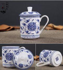 启瑞供应qrcb-01景德镇陶瓷茶杯 办公室会议礼品杯