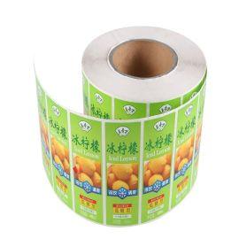 透明PVC不干胶标签/定做水果商标贴纸/饮料瓶标签贴/彩色PVC食品不干胶标签