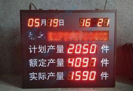 电子看板LED生产管理看板工厂车间生产线进度管理LED显示屏