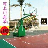 广西篮球架 户外新国标准地埋式篮球板圆管篮球架固定式镀锌