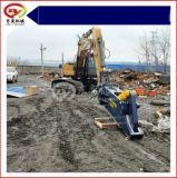 挖掘机拆解报废汽车液压剪,鹰嘴剪拆解黄标车