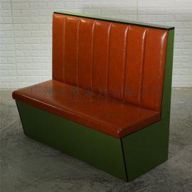 主題餐廳卡座沙發顏色尺寸可以定制