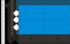 液晶拼接屏支架(支牆款)