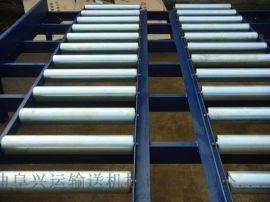 无动力直线滚筒输送机铝型材 倾斜输送滚筒