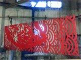 餐厅红色雕花铝单板-门头装饰镂空铝单板