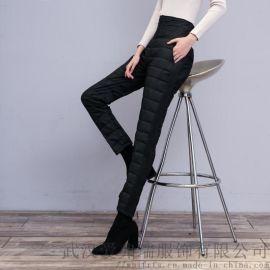 哪里有品牌女装走份线象18年冬装新款高腰羽绒裤