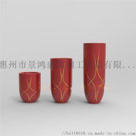 彩绘组合条形圆形花瓶厂家订制玻璃钢摆件