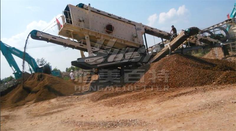 供应移动式建筑垃圾破碎筛分站 山东破碎站厂家 移动碎石机报价
