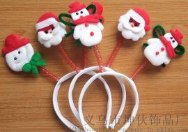 圣诞发箍圣诞老人雪人弹簧发箍