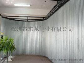 不锈钢卷闸门 铝合金车库门 自动伸缩门【东龙门业】