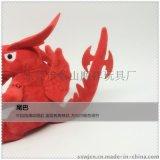 毛絨玩具紅色恐龍公仔 玩具工廠直銷 玩具加設計加工 毛絨玩具定製