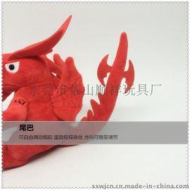 毛绒玩具红色恐龙公仔 玩具工厂直销 玩具加设计加工 毛绒玩具定制