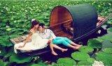 绍兴乌篷船木船厂家出售4米公园景区中式手划船