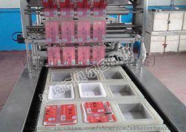 全自动拉伸膜真空包装机/外抽式真空包装机