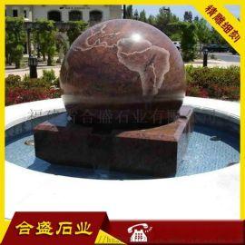 石雕风水球 石雕喷泉 石雕大理石风水球
