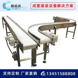 不锈钢网带输送机流水线输送设备爬坡式刮板输送机