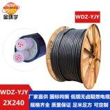 電線電纜廠家批發金環宇WDZ-YJY 2*240環保電力電纜 交聯電纜