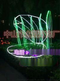 廠家直銷LED粉色鹿造型燈 耶誕節日裝飾景觀燈