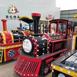 无轨观光小火车广场公园电动新型货车儿童户外游乐