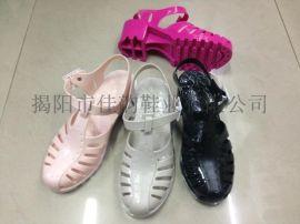 揭阳厂家供应女款水晶松糕跟时尚凉鞋