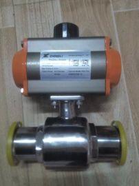 气动三通球阀,气动卫生级球阀,Q681F卫生级气动球阀
