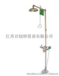 复合式 紧急冲淋洗眼器 304不锈钢脚踏式洗眼器 手动排空防冻型