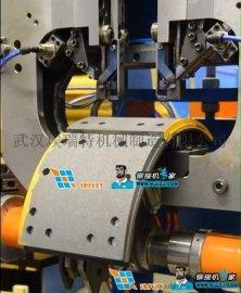 武汉埃瑞特新型刹车蹄铁自动铆接机,刹车蹄片全自动铆接机