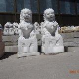 汉白玉手工石雕石狮子制作厂家
