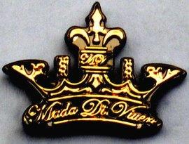 双色挂电镀皇冠手袋标牌