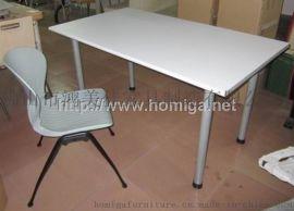 簡易鋼木四人位分體餐桌椅,廣東鴻美佳家具廠專業生產食堂飯堂員工餐廳桌椅
