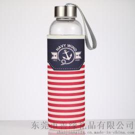 明岳户外运动玻璃杯子创意便携水壶促销活动礼品