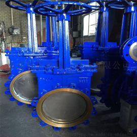 温州刀闸阀生产厂家供应手动对夹式刀型闸阀污水刀闸阀