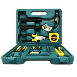 厂家批发懒汉牌十二件套家用组合便携式手提维修工具包