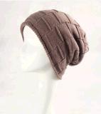 女式新潮特殊針法針織加長鬆垮帽