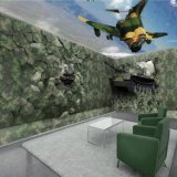 军绿色迷彩墙纸订制 服装店KTV迷彩纹3D壁纸