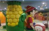 树脂菠萝 卡通树脂菠萝摆设 海南玻璃钢树脂菠萝水果造型