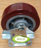 供应美顺4系列6寸重型聚胺脂耐磨定向刹车脚轮