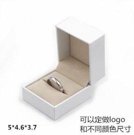 厂家批发定做**白色绒布饰品包装首饰盒戒指盒 5*4.6*3.7cm 有现货