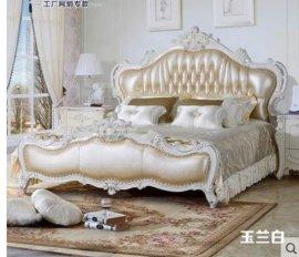 1.8米欧式实木双人床