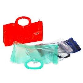 时尚环保彩色PVC手提包