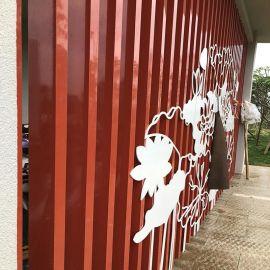 室外铝合金隔断 铝方管幕墙 40x80铝格栅